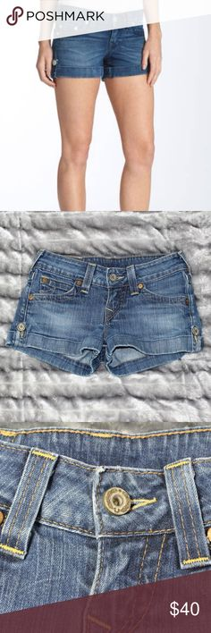True Religion Shorts Perfect for festivals, spring break, and summer vacations!  Style: Jess  EUC True Religion Shorts