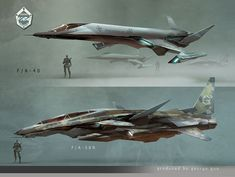 Two aerospace fighters.