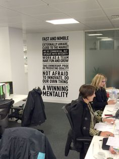 www.vinylimpression.co.uk Awesome office graphics #decal #stickers