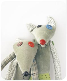 patchwork fox toy for child by moloco