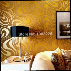 41.60$  Buy here - http://ali1y7.worldwells.pw/go.php?t=32275692406 - 0.7m*8.4m Modern Luxury 3d wallpaper roll mural papel de parede flocking for striped wall paper 5 color R136 41.60$