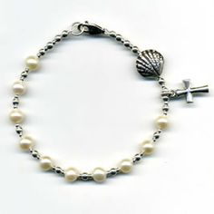 A chaplet with the pilgrim's scallop shell