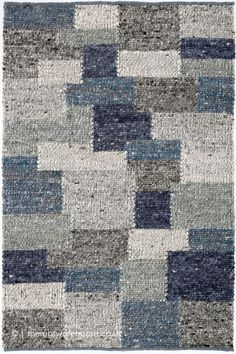 Patchwork Rugs, Patchwork Patterns, Wool Area Rugs, Wool Rug, Blue Rugs, Shades Of Blue, Morocco, Hand Weaving, Teal