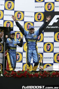 2005 Australian GP, it doesn't get better than seeing both Renault drivers on the podium. Come back, 100% Renault!