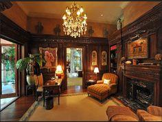 Old World, Gothic, and Victorian Interior Design: Victorian Gothic style interior