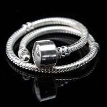 Minimum order $10 free shipping Wholesale 925 Sterling Silver Jewelry Silver Bracelet fit Charm Bead Bracelet Necklace Bangles(China (Mainland))