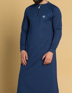 Extreme Longline Sweatshirt KameeSweat Thobe Kameez in D Blue Arab Men Fashion, Men Fashion Photo, Nigerian Men Fashion, Mens Fashion Wear, Muslim Fashion, Male Fashion, Short Kaftan Dress, Kaftan Style, Kaftan Designs