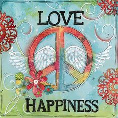Perfect Tween Wall Art Love Peace Happiness Children's Wall Art by WallFlowerArtBotique, $22.00