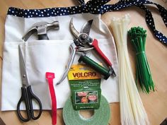 tools for decorating (plus a cute apron to tote them around in)