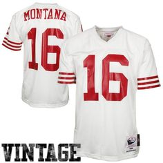80c060b8c Joe Montana San Francisco 49ers Mitchell   Ness Authentic Throwback Jersey  - White