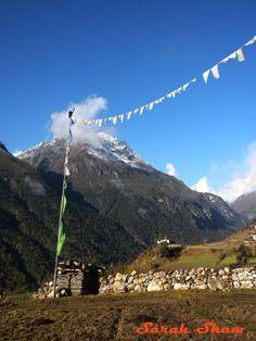 Prayer flags in Laya, Bhutan  via WanderShopper