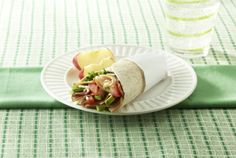 Hickory Smoked Honey Turkey Wrap | #deli #turkey #picnic #wrap | http://www.jennieo.com/recipes/579-Wellesley-Turkey-Sandwich