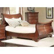 Marseille Sleigh Bed Black Cherry - B8610-51F - Largo Furniture