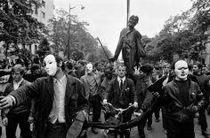 Bruno Barbey   Student Demonstrators, Paris   May, 1968 http://25.media.tumblr.com/a3aeca6c5ceb8556e5ba4ebe67f2faab/tumblr_mn2wzn9ZZ51qzz5ieo1_1280.png