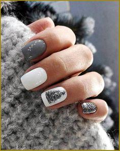 Square Nail Designs, Cute Nail Designs, Short Square Nails, Short Nails, Holiday Nails, Christmas Nails, Simple Christmas, Christmas Crafts, Christmas Decorations