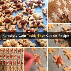 Teddy Bear Cookies |15 Favorite DIY Christmas Cookies Best Christmas Cookie Recipes