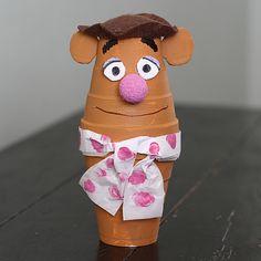 Foam Cup Fozzie Bear - Crafts by Amanda