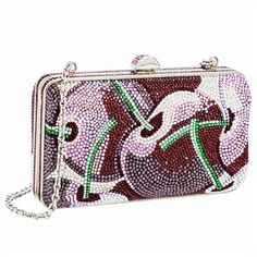 This is what happens when art meets fashion...   Judith Leiber Beaded Crystal Cherry Minaudiere Evening Bag