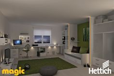 The Hettich Group is one of the world's leading manufacturers of furniture fittings. Led Light Design, Lighting Design, Aesthetic Value, Kids Room, Entryway, Child's Room, Design Ideas, Magic, Furniture