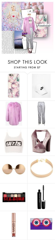 """""""""""My thoughts will never be shallow"""""""" by fruitmachine ❤ liked on Polyvore featuring Casetify, NIKE, Gucci, Puma, Alexander Wang, Chinese Laundry, Linda Farrow, Lacey Ryan, NYX and Marc Jacobs"""
