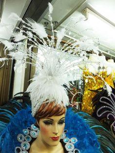 Da NeeNa H072 Feather Drag Burlesque Cabaret Showgirl Snow Fairy Headdress   eBay