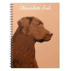 #Labrador Retriever (Chocolate) Spiral Notebook - #labrador #retriever #puppy #labradors #dog #dogs #pet #pets