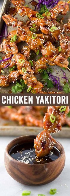 Chicken yakitori is an easy Japanese grilled recipe served on skewers. The meat is basted with a savory sweet sauce as it cooks over a hot barbecue grill. A quick appetizer for a crowd or dinner served with a few extra sides.