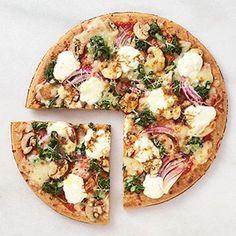 Spinach-Mushroom Pizza