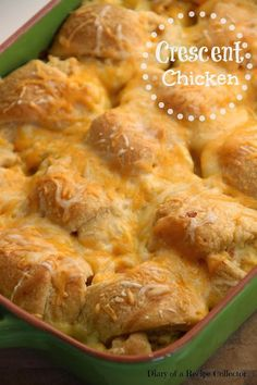 Crescent Chicken-Crescents stuffed with a cream cheese chicken mixture and baked for a super comforting week-night supper. Might just be dinner tonight! Food Dishes, Main Dishes, Crescent Chicken, Crescent Dogs, Recipe Collector, Crockpot, Cassoulet, Great Recipes, Favorite Recipes