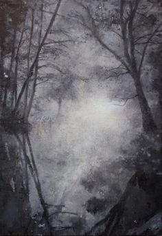 Fogriver, 2014 oil, spraypaint on canvas 152x112cm