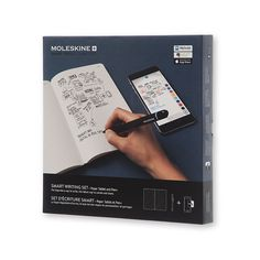 Smart Writing Set   Moleskine Store - Moleskine  Watch your ideas travel off the page and evolve on screen with the new generation Moleskine Paper Tablet, Pen+ and companion app. Enjoy the hands-on immediacy of putting pen to paper, teamed with all the advantages of digital creativity.  Ncoded technology allows the Pen+ to recognize where it is in the Paper Tablet and capture each pen stroke as you capture your thoughts. The app then smoothly transfers your freehand notes from page to screen…