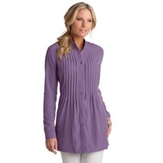 Coolibar UPF 50+ Women's Pin Tuck Blouse - Sun Protection Coolibar. $59.99