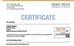 Oeko-Tex Certificate   Certifications for the latex used in latex mattresses serve a purpose, they are most valuable when used to pinpoint the manufacturer and content of the latex you are purchasing.
