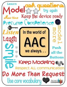 Printable AAC Posters for Back-to-School from CoughDrop! Printable AAC Posters for Back-to-School from CoughDrop!,AAC Printable AAC posters for Back-to-School from … Classroom Tools, Classroom Behavior, Future Classroom, Speech Language Pathology, Speech And Language, Speech Therapy Organization, Literacy Quotes, Inclusive Education, Back To School