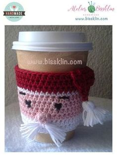Coffee Sleeves - Top Coffee Brewing Ideas That Are Tasty! Crochet Coffee Cozy, Crochet Cozy, Crochet Winter, Crochet Gifts, Crochet Christmas, Free Crochet, Crochet Designs, Crochet Patterns, Coffee Cup Sleeves