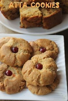Easy Atta Cookies Recipe - Eggless Whole Wheat Cookies Recipe - Yummy Tummy Eggless Cookie Recipes, Eggless Baking, Easy Baking Recipes, Cake Recipes, Microwave Recipes, Vegan Baking, Drink Recipes, Cooking Recipes, Healthy Recipes