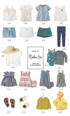 Toddler #capsulewardrobe: Summer Staples - Modern Eve #toddlerfashion #babystyle
