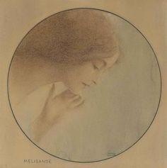 Mélisande, 1907,  Fernand Khnopff.  Belgian Symbolist Painter (1858 - 1921)