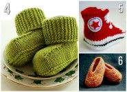 Colorful knit baby shoes free patterns