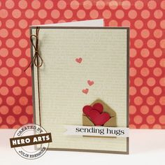 """Another envelope of hearts.  I think if it says """"sending hugs"""" I would will put X's coming out of the envelope.. cute huh?"""