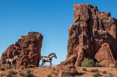 #attraction #blue #bronze #cliff #culture #historic #history #horse #indian #landmark #monument #mustang #native #navajo #orange #place #pony #sand #sandstone #sculpture #sky #st george #statue #summer #symbol #tourism #tr