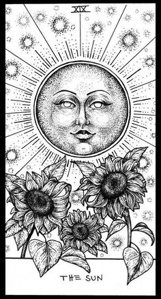 Sun Tarot by Corinne Elyse is part of Sun Tarot By Corinne Elyse In Tarot Tarot Tattoo - This is a galleryquality giclée art print on cotton rag archival paper, printed with archival inks Tarot Tattoo, Drawings, The Sun Tarot Card, Giclee Art, Card Tattoo, Giclee Art Print, Art, Card Art, Tarot Cards Art