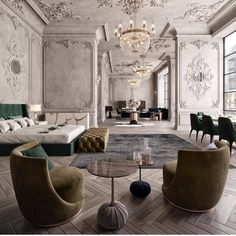 beautiful green modern style living room decor 16 « Home Design Home Design, Luxury Interior Design, Luxury Home Decor, Best Interior, Interior Styling, Luxury Homes, Interior Decorating, Showroom Interior Design, Modern Classic Interior