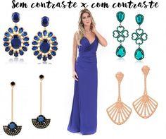 como combinar brinco com vestido de festa Vestidos Madrinha Azul Marinho,  Madrinha De Azul, 71ece288bf