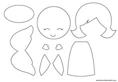 силуети-ангел Angel Outline, Felt Board Templates, Doll Patterns, Christmas Time, Boy Or Girl, Applique, Shabby Chic, Miniatures, Printables