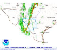 SPC Severe Thunderstorm Watch 35 Status Reports - http://blog.clairepeetz.com/spc-severe-thunderstorm-watch-35-status-reports/