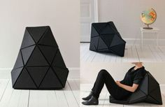 Tetra chair is transformable coal, adjusts according to you and is completely recyclable