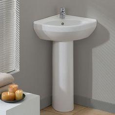 cheviot petite corner pedestal sink white cheviot petite white corner pedestal sink 15 x 15