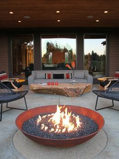 Interior design ideas for balcony stone table furniture from wrought iron fireplace