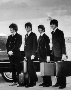 THE BEATLES AT THE AIRPORT...